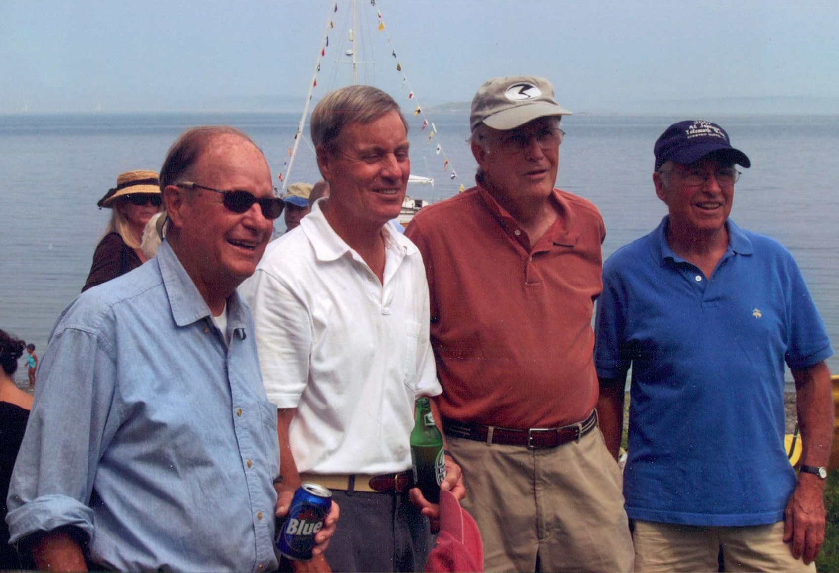 Gimmy with his three brothers at Mullen's Head Park on North Haven for his 80th birthday