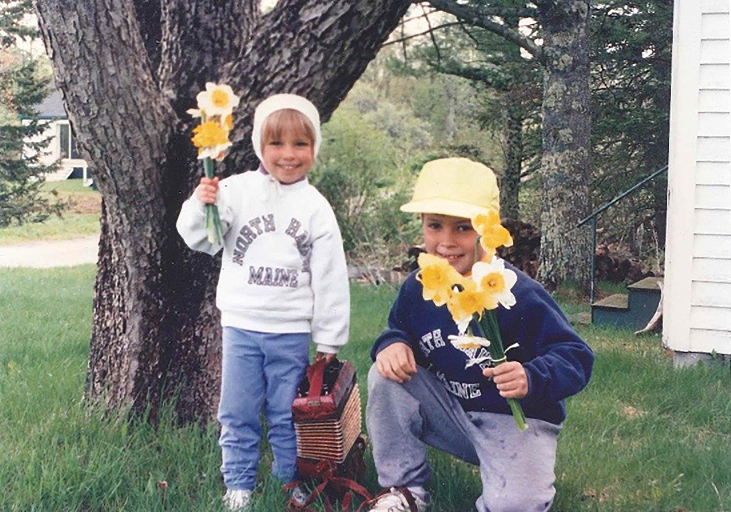 Josie with her older brother, Gabe