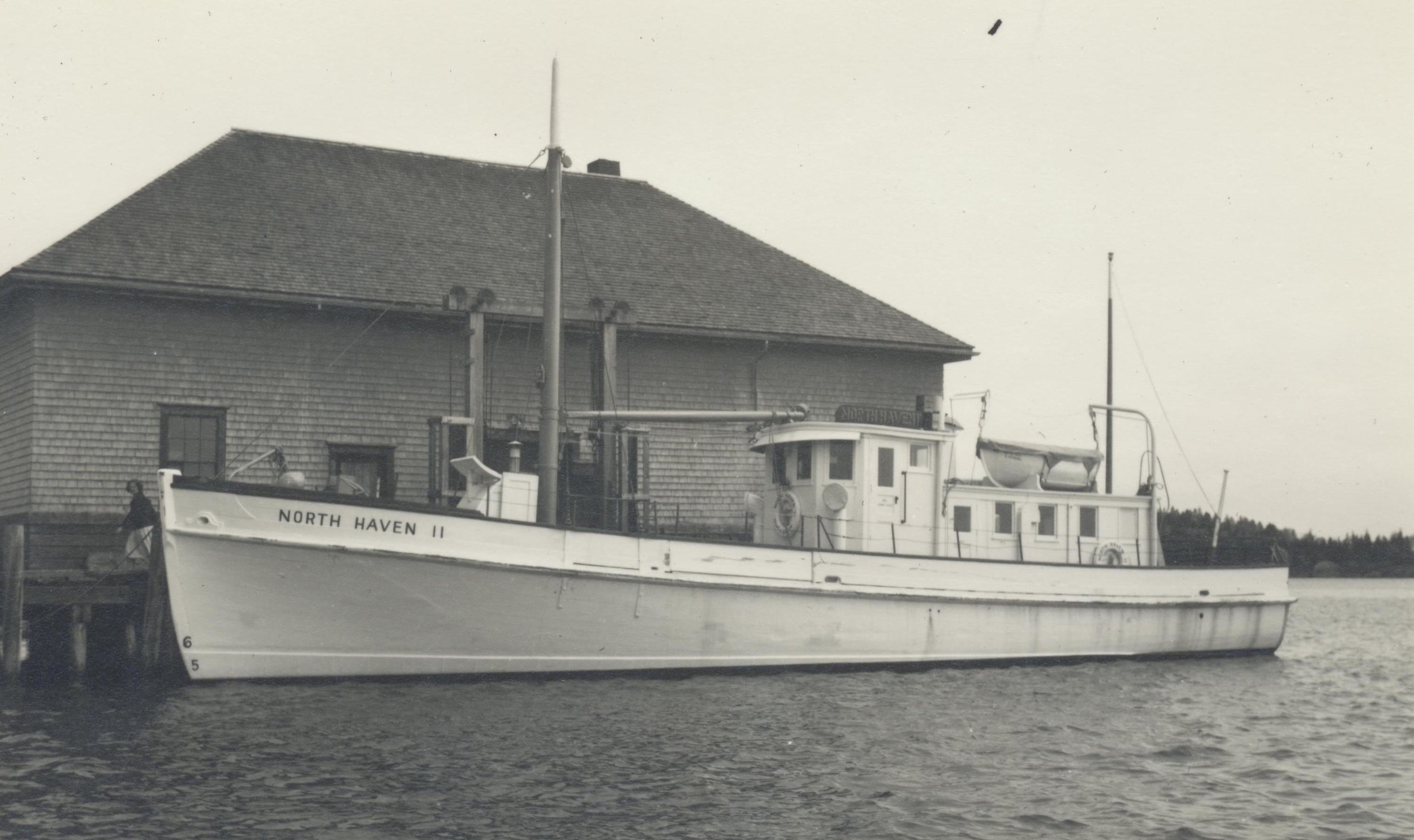 One of the side loading ferries, the North Haven II