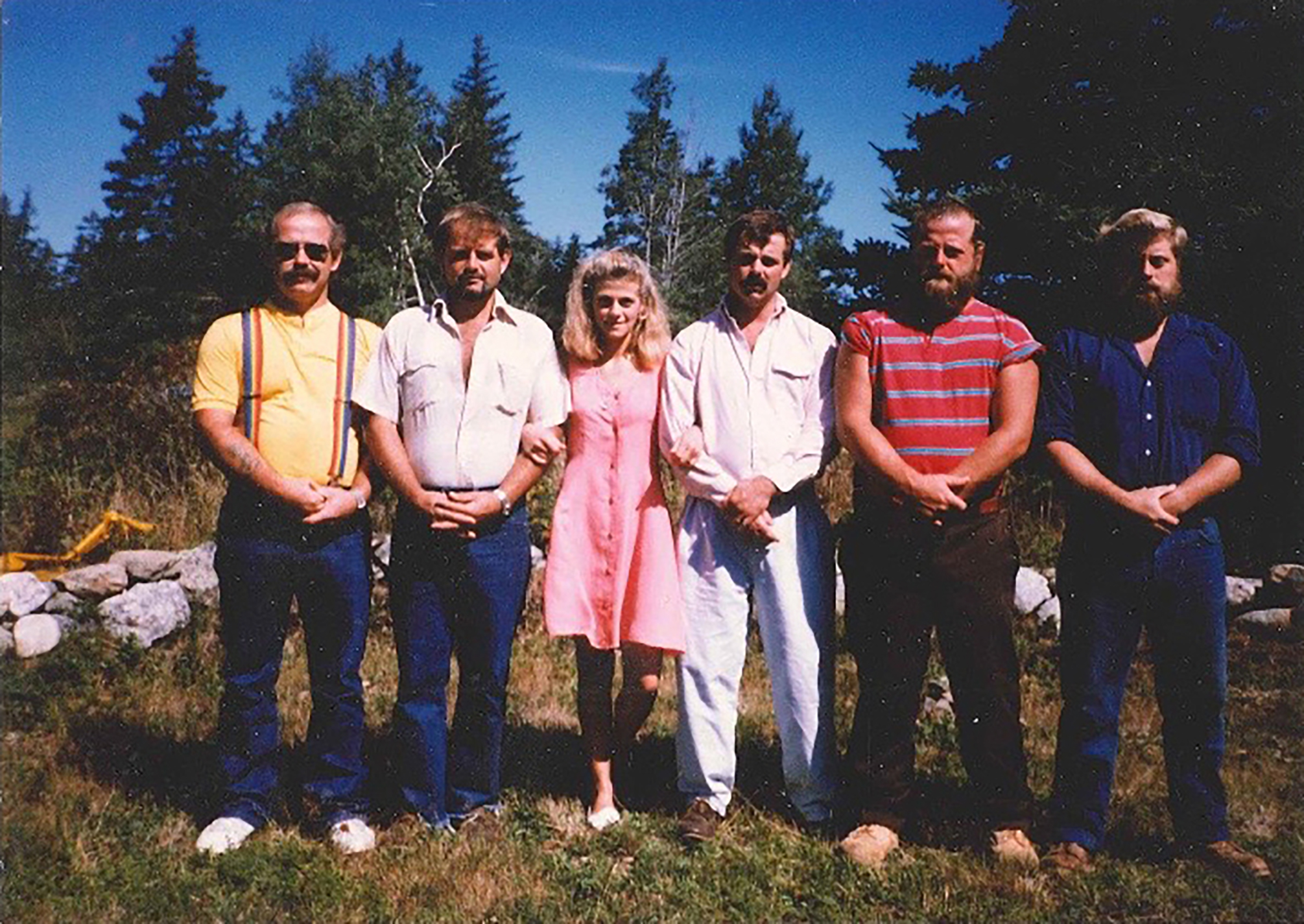 Nancy with her five brothers