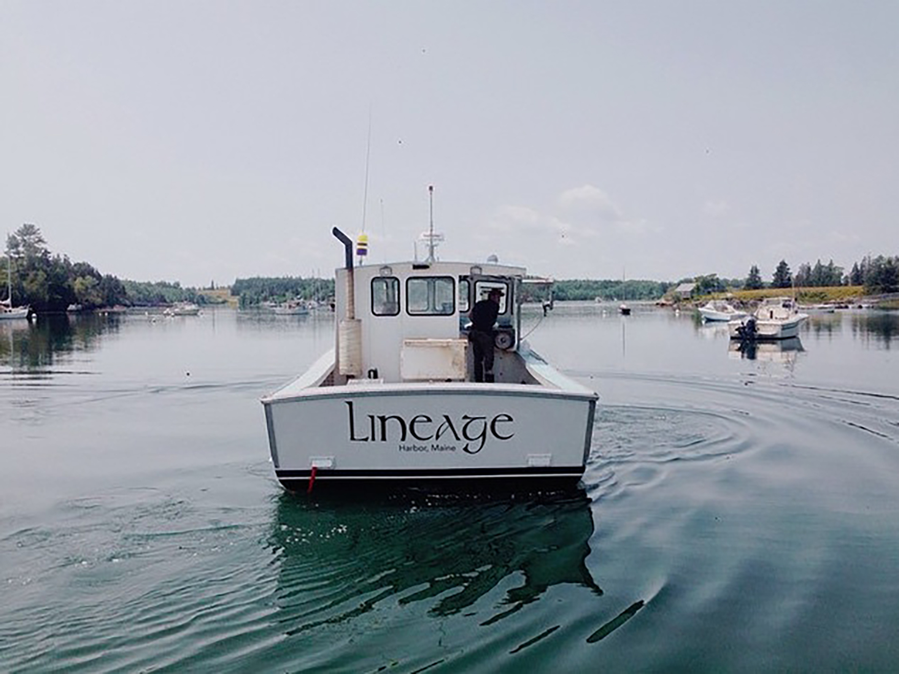 After selling the Cheryl Lee, Zeb purchased his current fishing vessel, the Lineage – Photo courtesy of Sarah Xiao