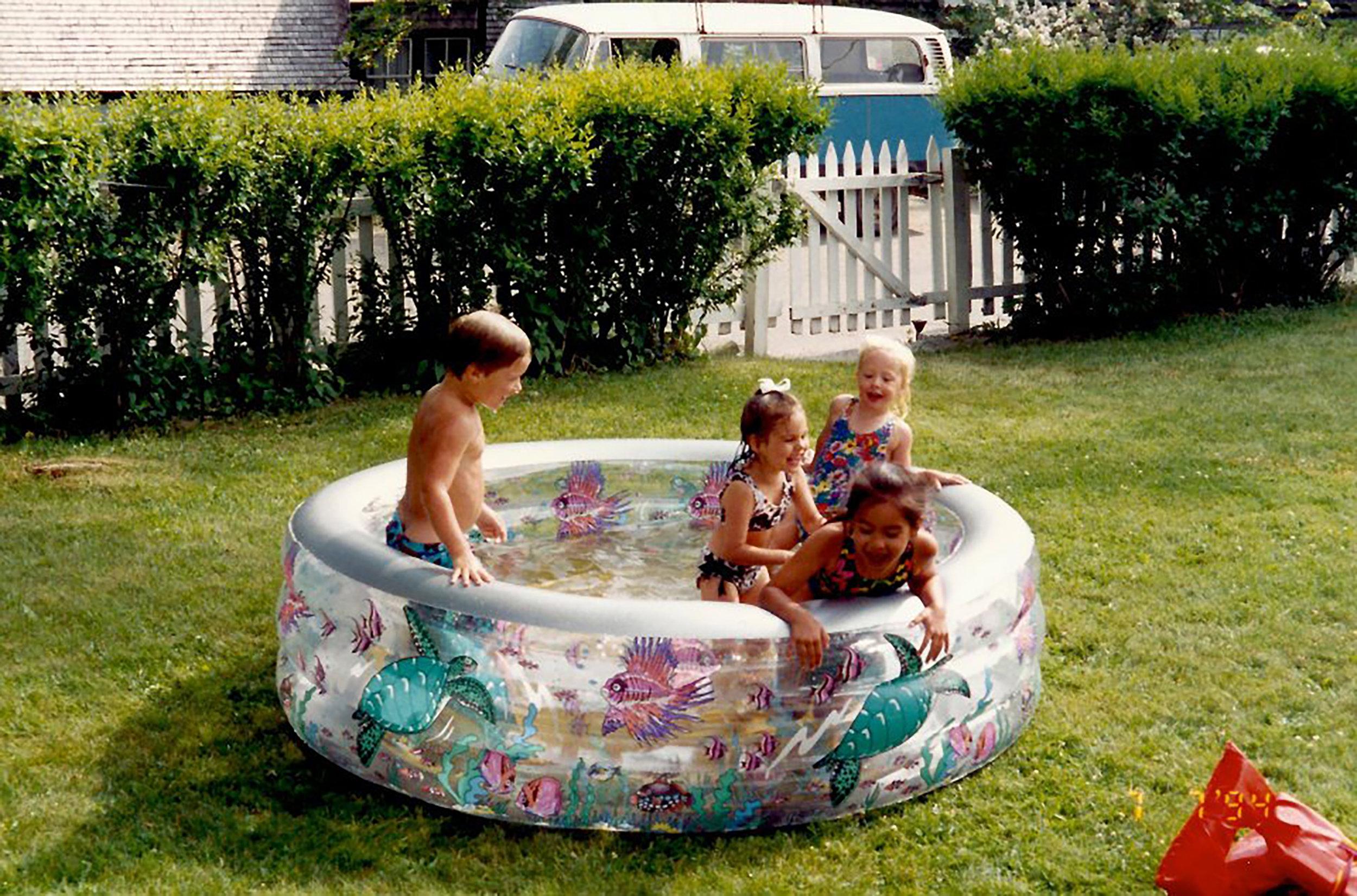 Anna and friends enjoy a summer afternoon