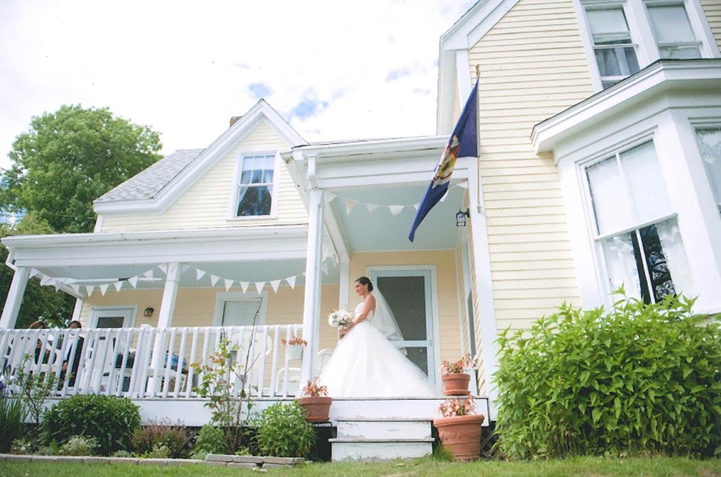 Anna, on her wedding day, at her home on North Haven
