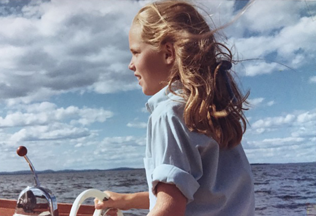 Susan on a boat ride