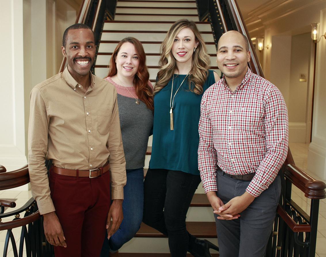 Membership Outreach Committee -   (from L - R) Elliott Abnatha, Katie Christof, Laurel Sprague, Malik Brown