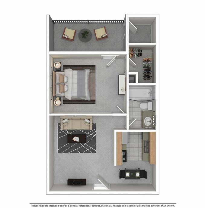 Montclair Estates Garland Apartment One Bedroom Large