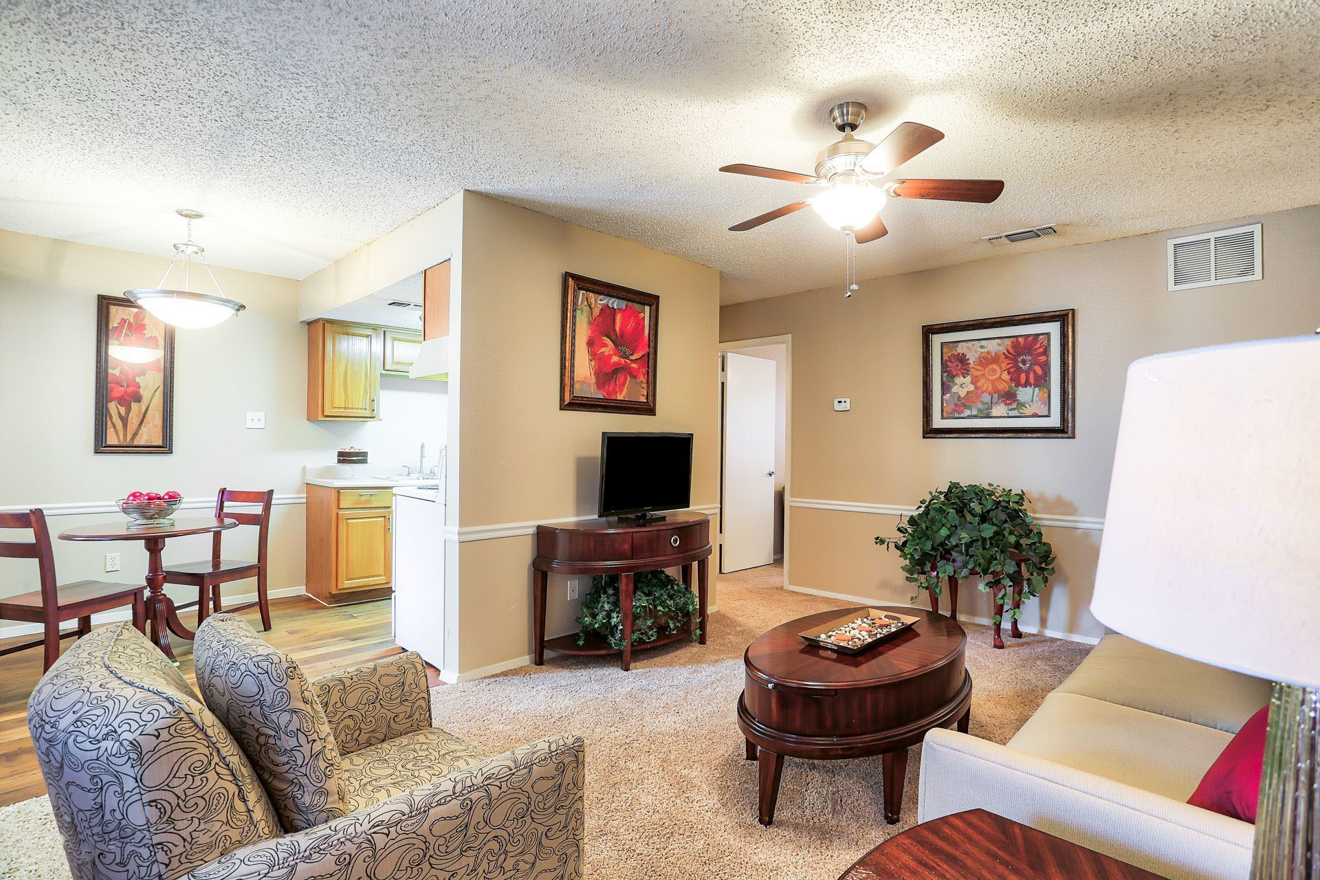 Montclair Estates Garland Texas Apartment Living Room