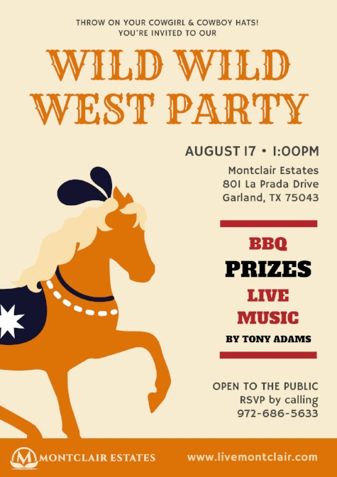 Montclair Estates Wild Wild West Party