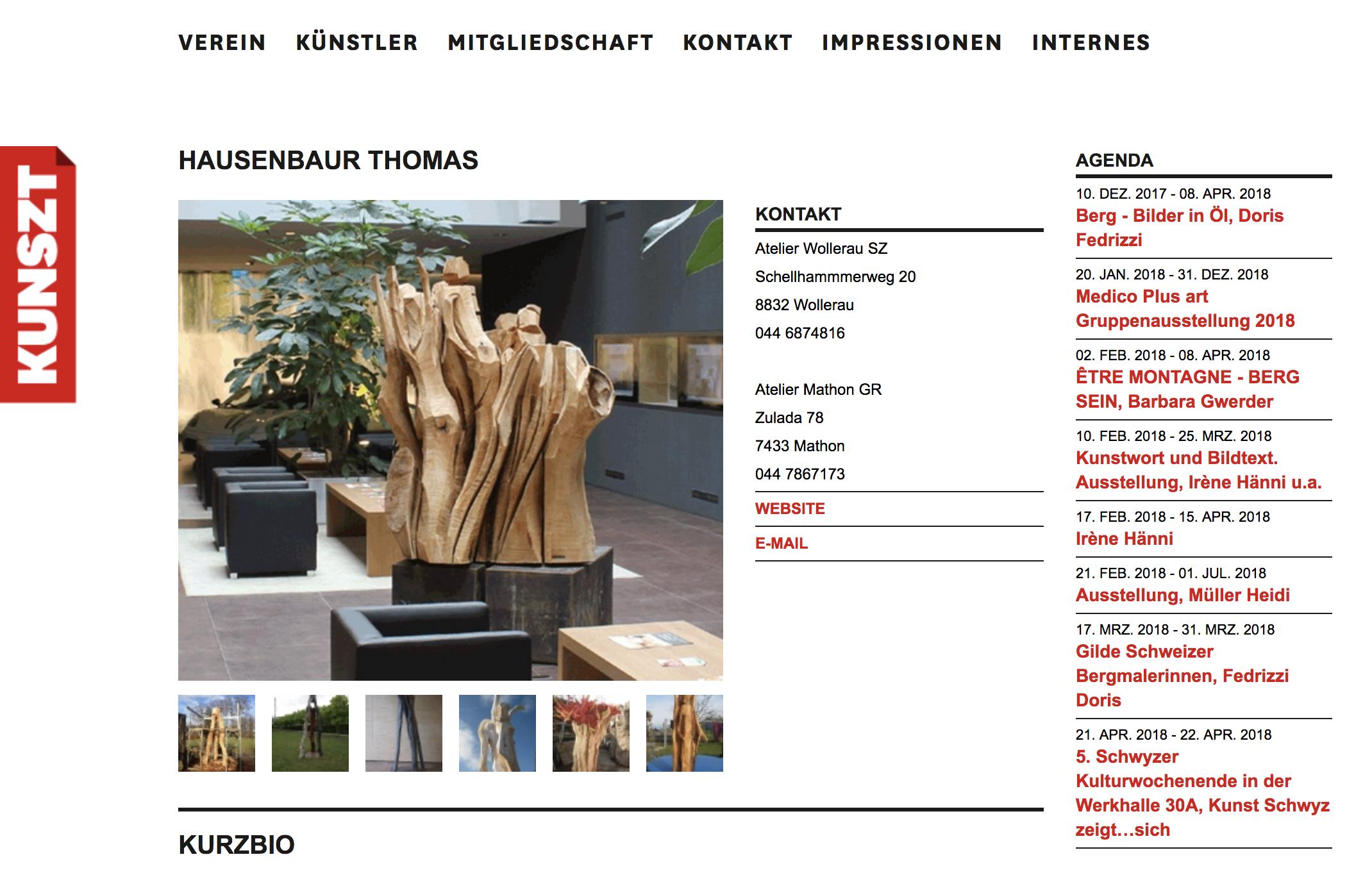 Thomas Hausenbaur - Kunst Schwyz