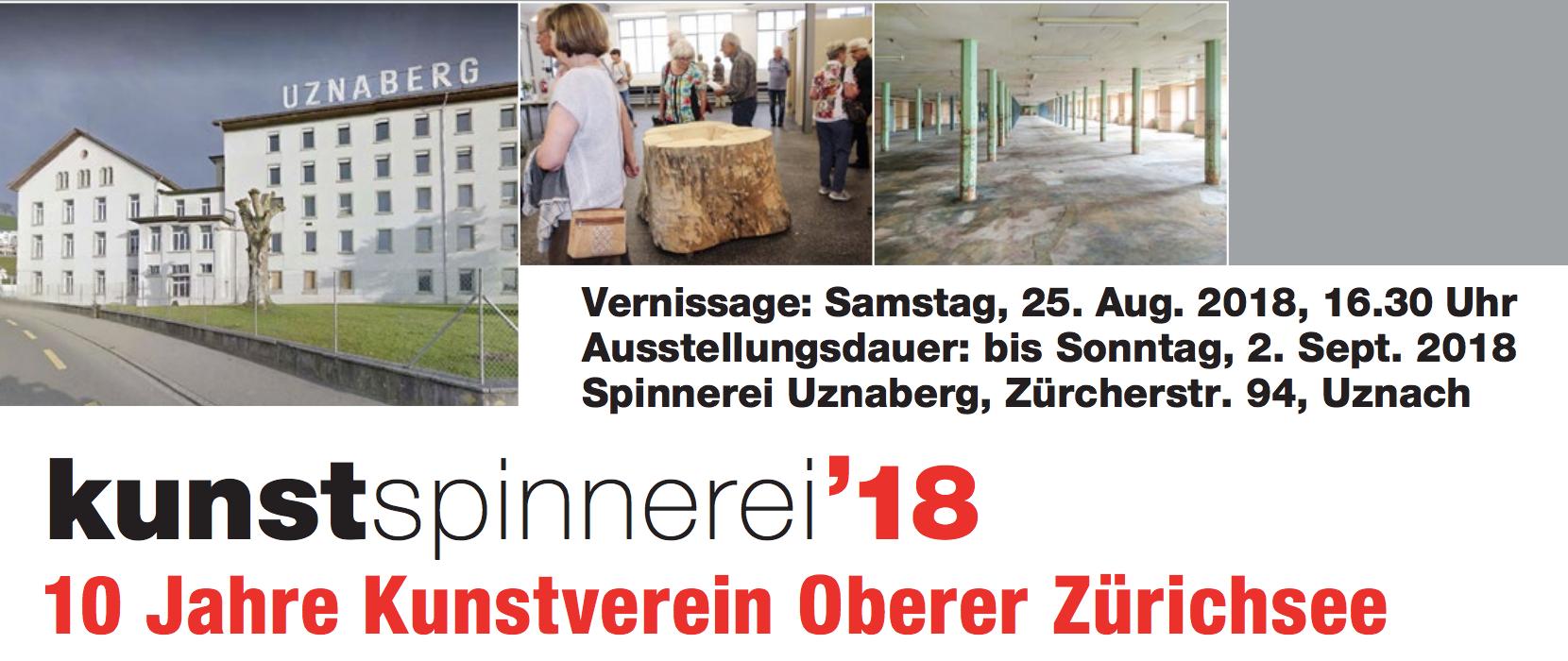 Thomas Hausenbaur an der kunstspinnerei 18 - 10 Jahre Kunstverein Oberer Zürichsee