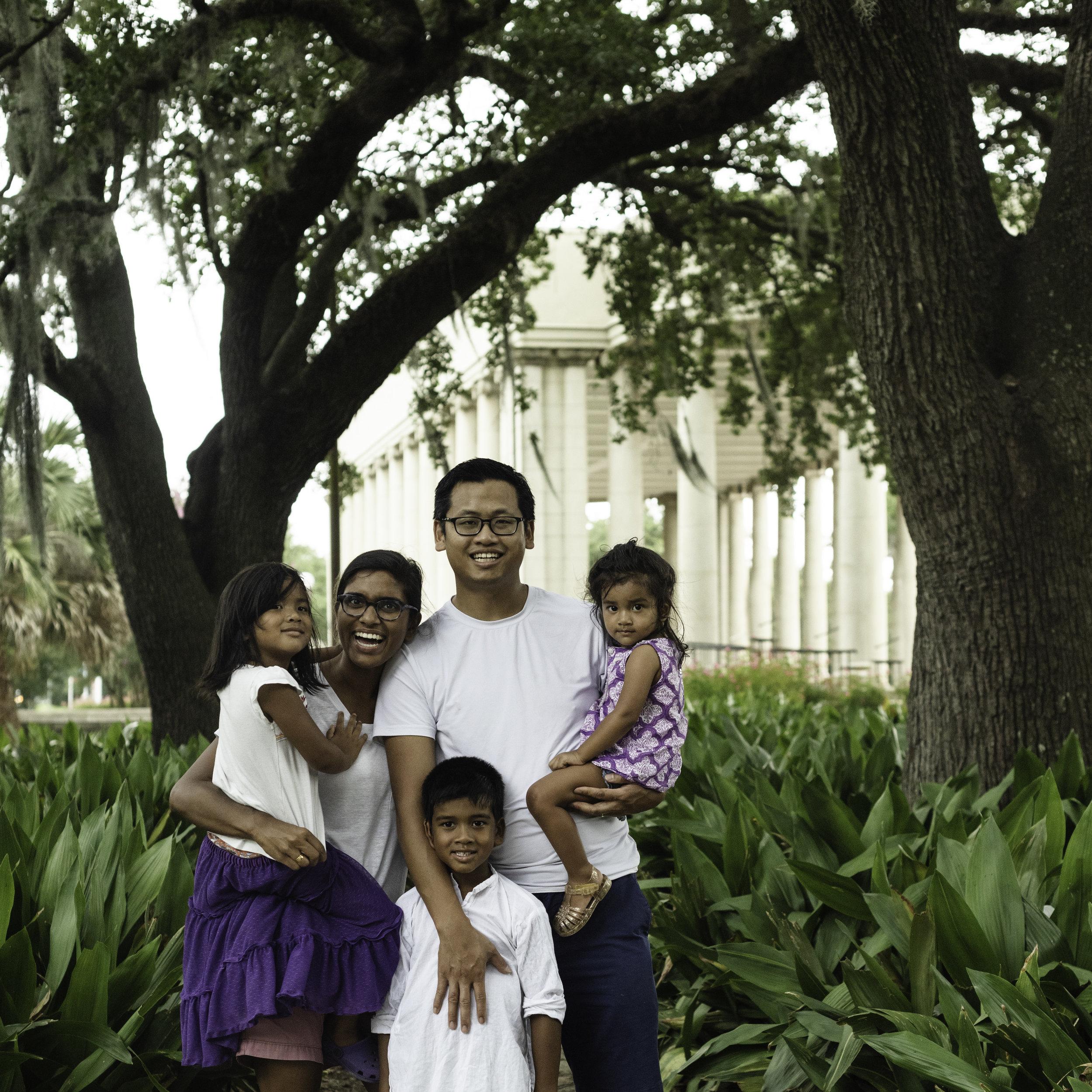 color plus neutral family photo