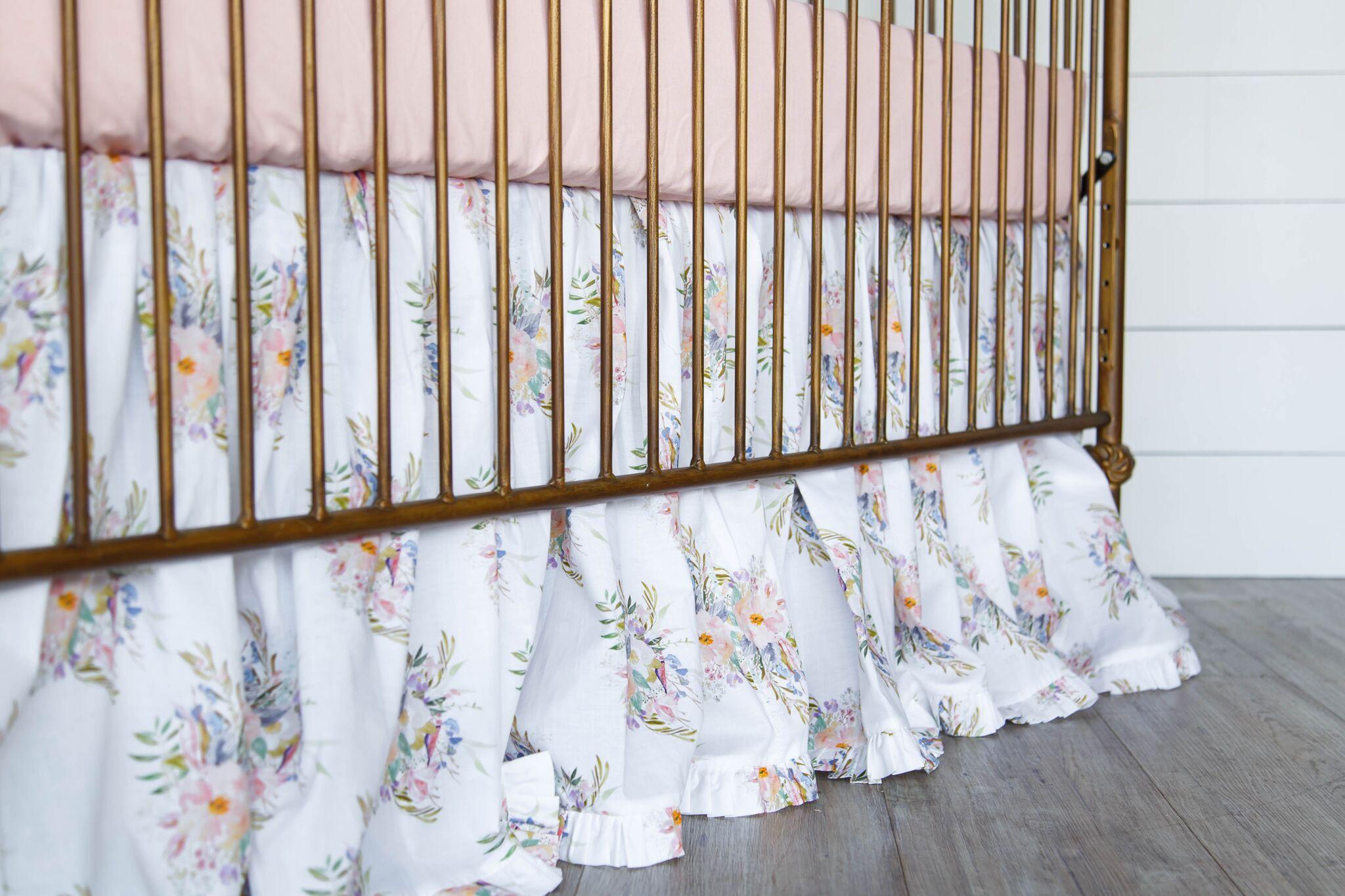 Fireflies & Fairytales adorable crib skirt.