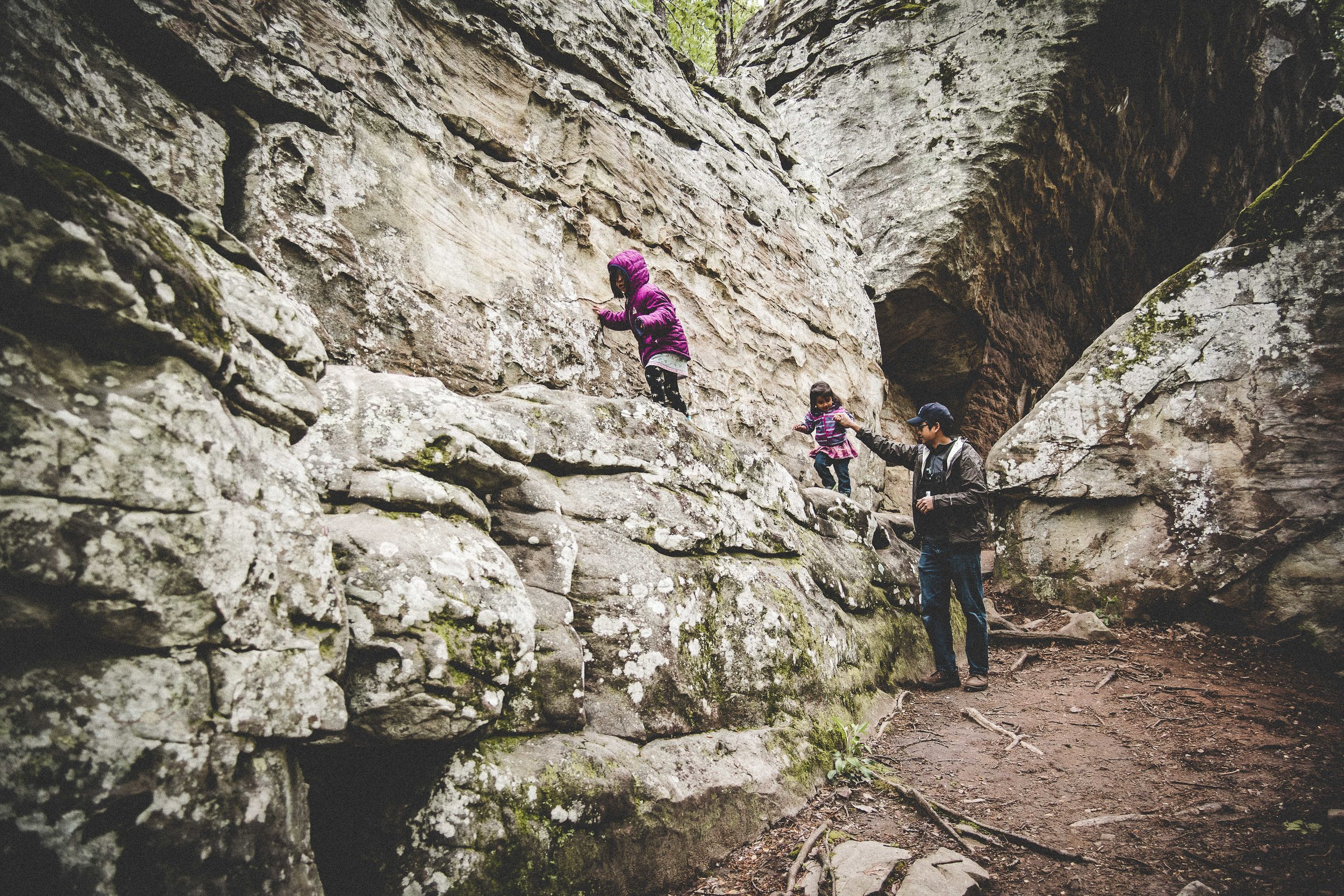 Moss Rock Preserve has lots of fun climbing opportunities for little ones (& you too!)