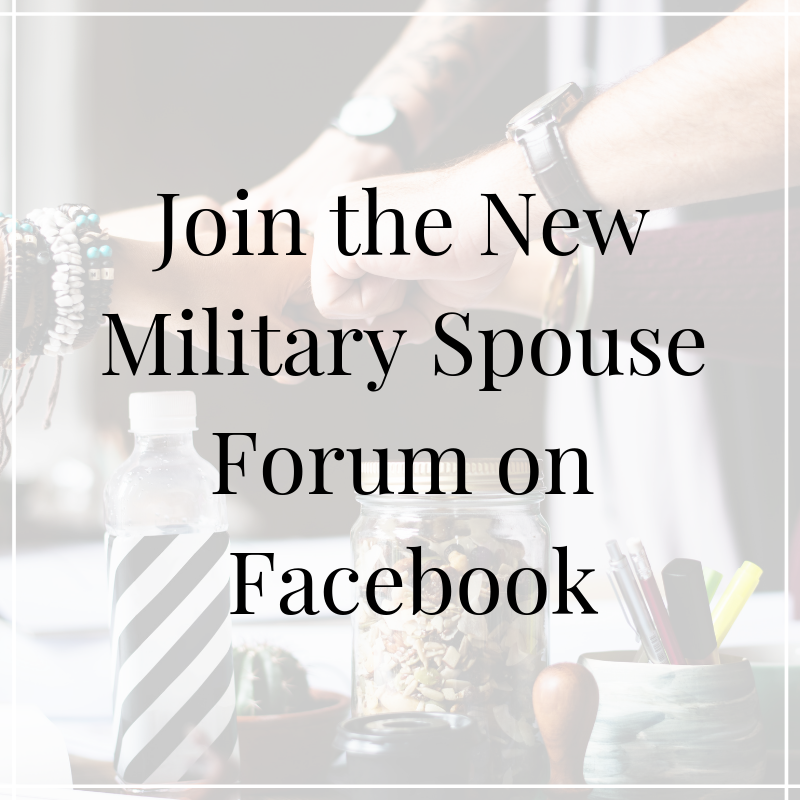 The New Military Spouse Forum is a safe place to ask questions and receive guidance. There are fun virtual gatherings within the forum such as weekly coffee chats!