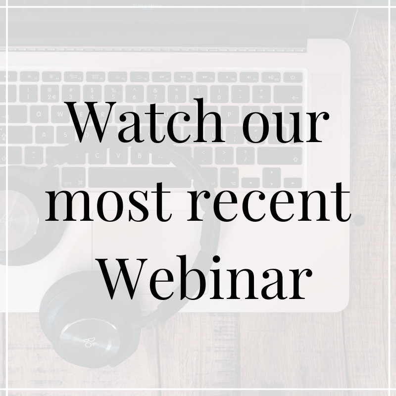 Check out all of the webinars that we have to offer!