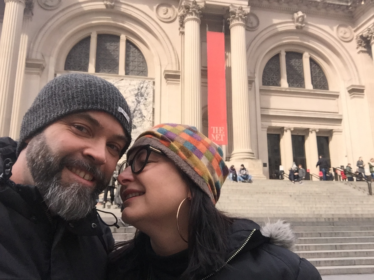 Us! In front of the MET. This place was so amazing. The Egyptian stuff! The paintings! And a da Vinci sketch!