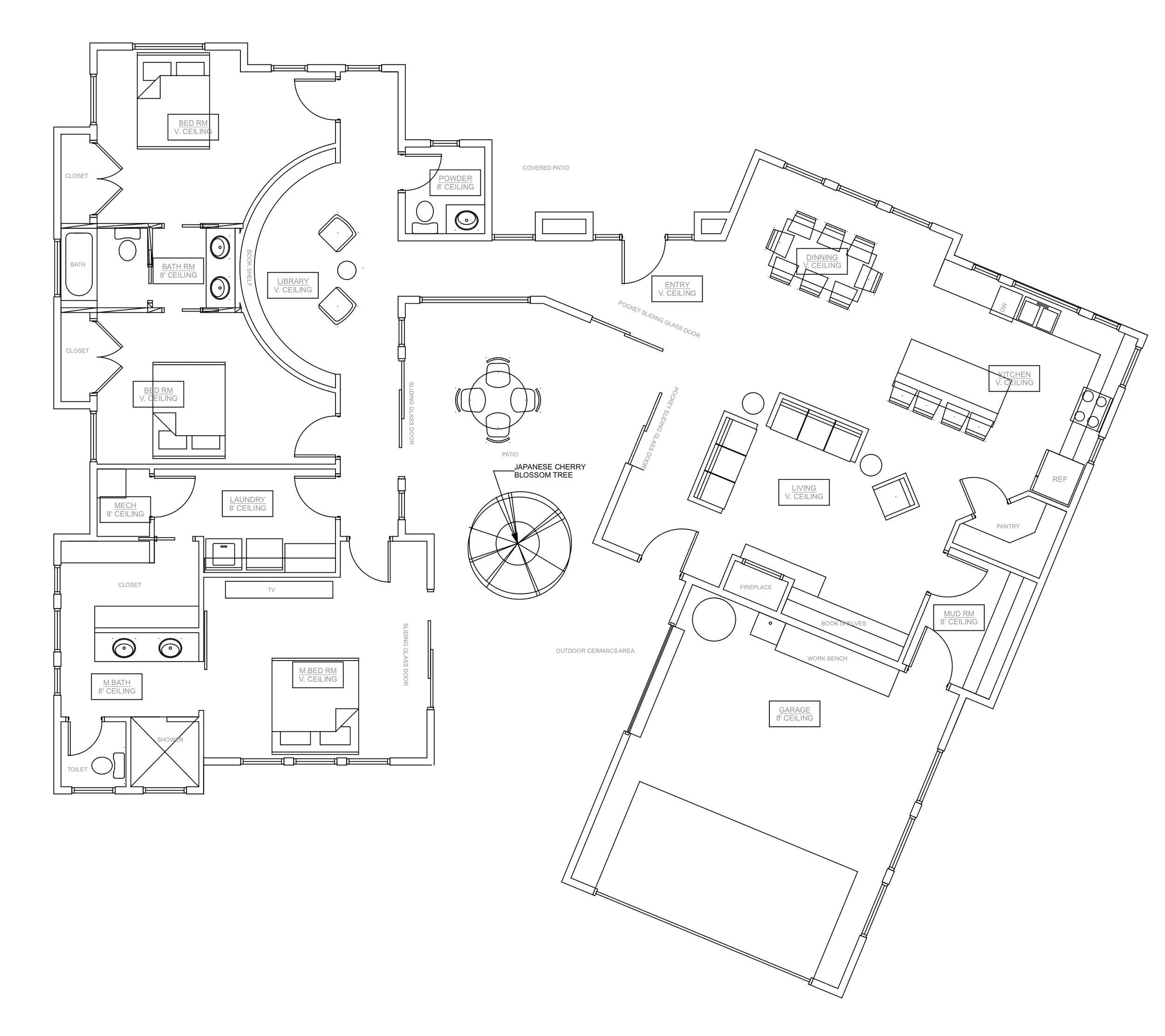 Midcentury Modern Floor Plan