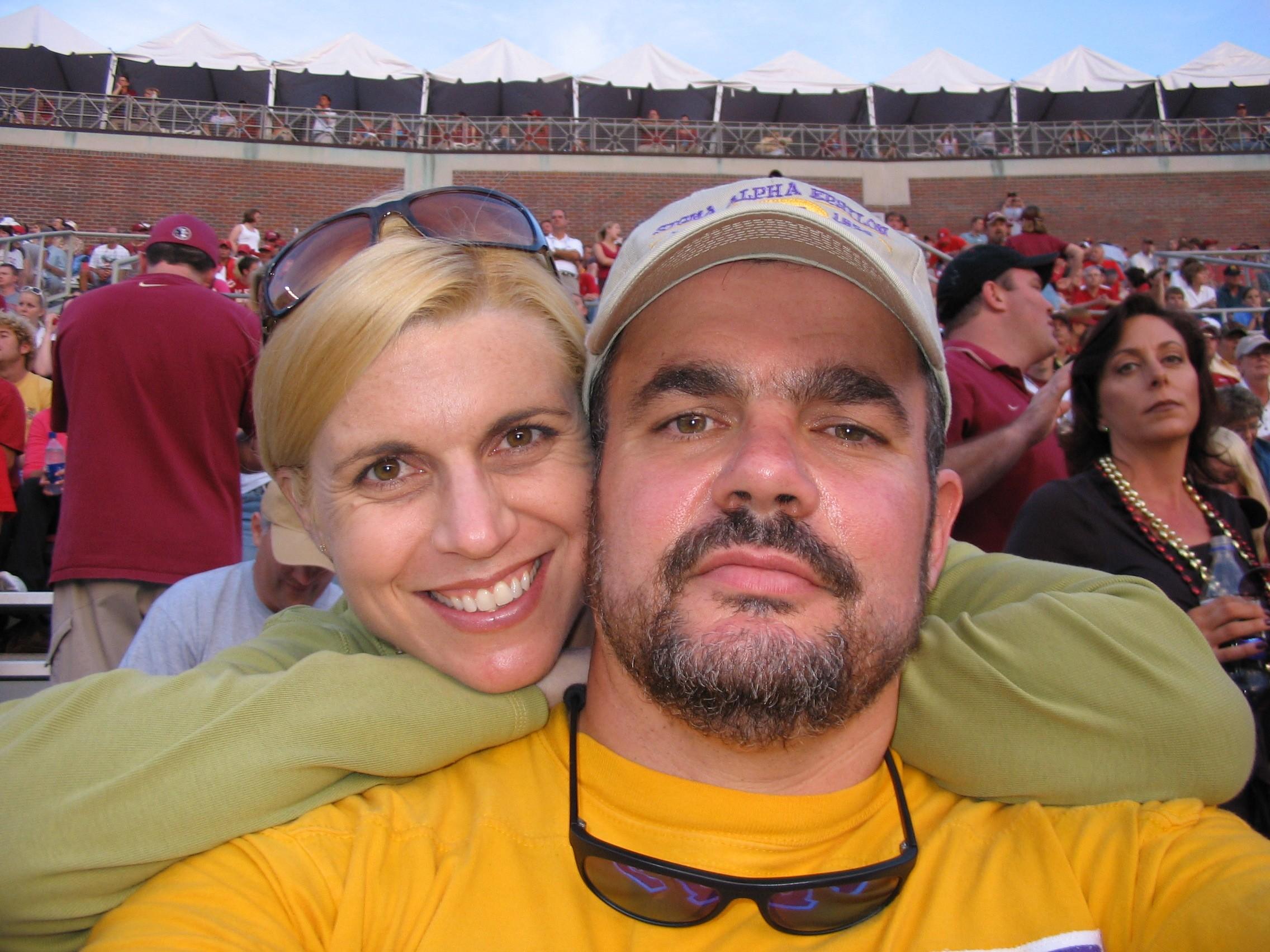 2005 alumni FSU game - Sabu and wife.JPG