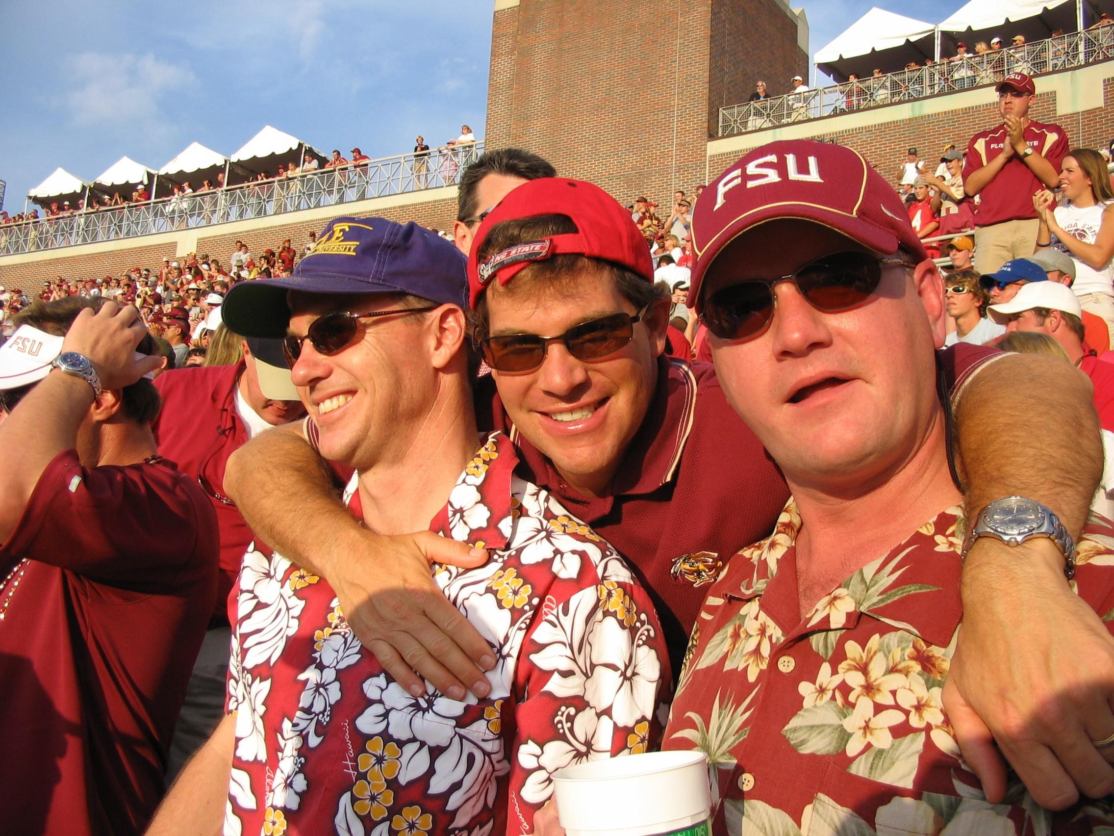 2005 alumni FSU game - TomJackson, MikeLuther, DaveWainer.JPG