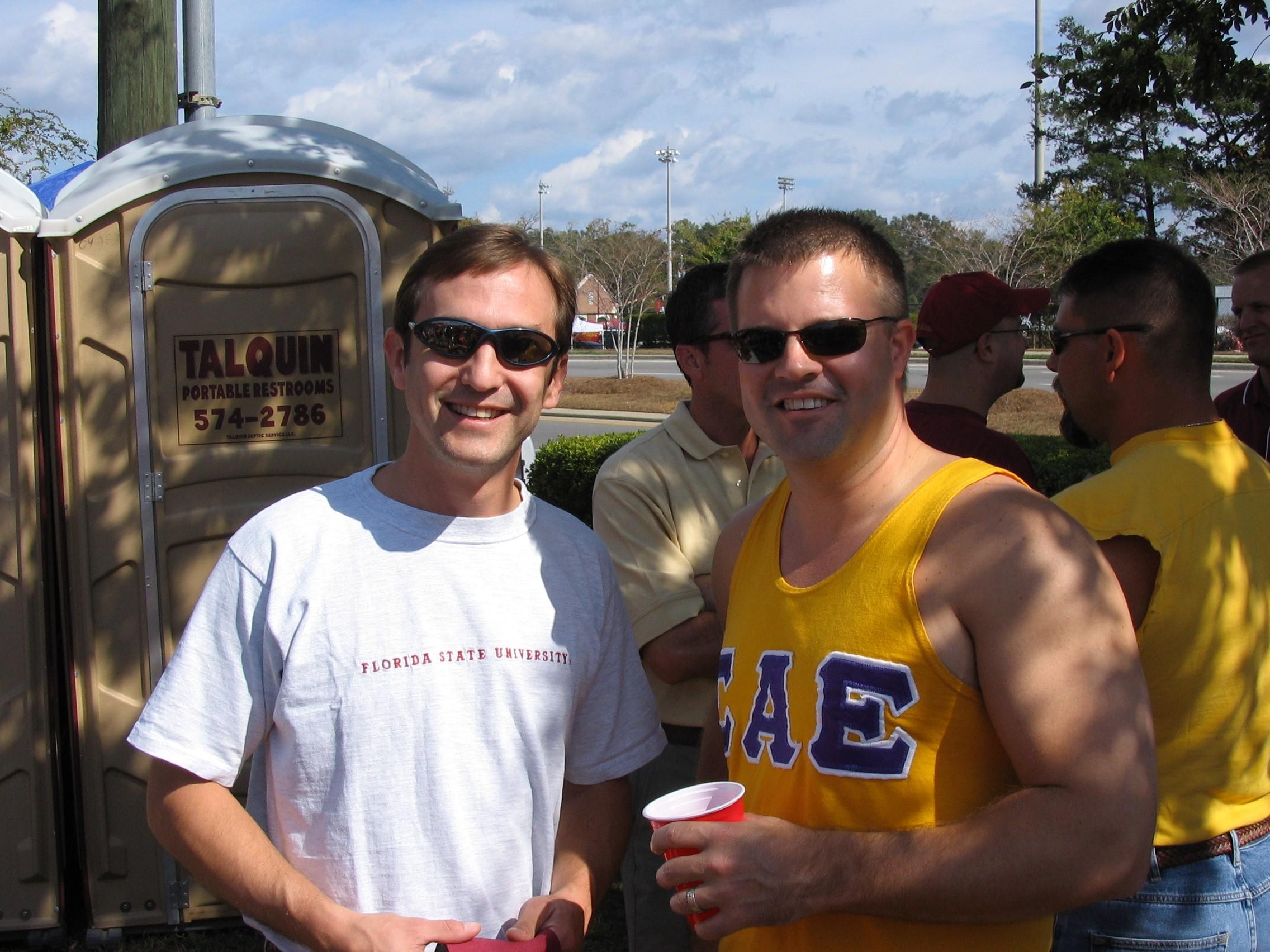 2005 alumni tailgate-DionRohrer, SteveSenkarik.JPG