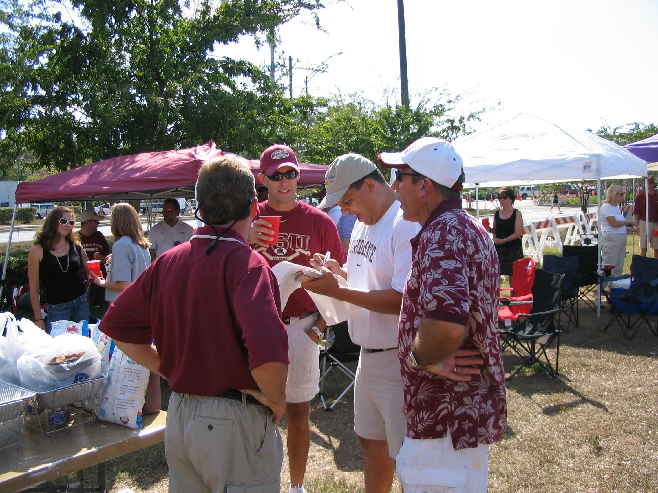 2005 alumni tailgate-JoeHouston, LawrenMoody, AlexGrohmann, tbd.JPG