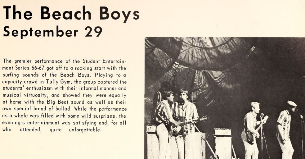 1967 campus events - music - Beach Boys in concert.JPG