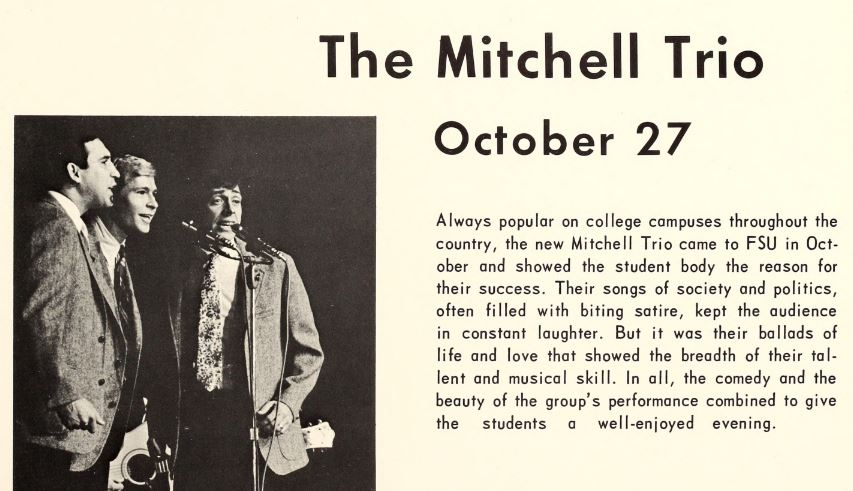 1967 campus events - music - The Mitchell Trio.JPG