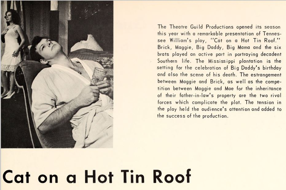 1967 campus events - plays - Cat on a Hot Tin Roof.JPG