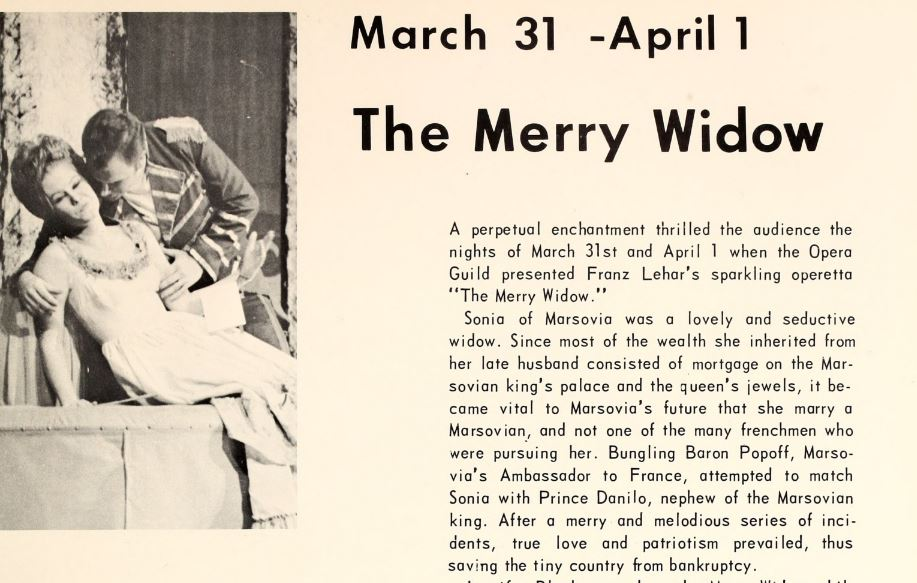 1967 campus events - plays - The Merry Widow.JPG