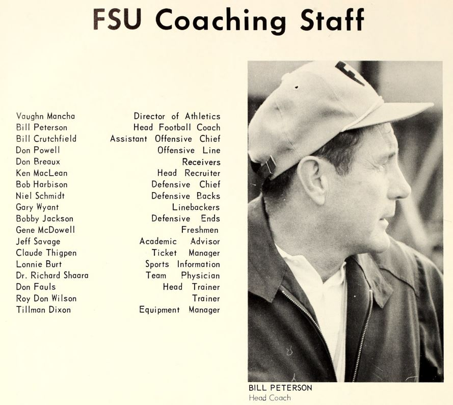 1967 football - coaching staff and Bill Peterson.JPG