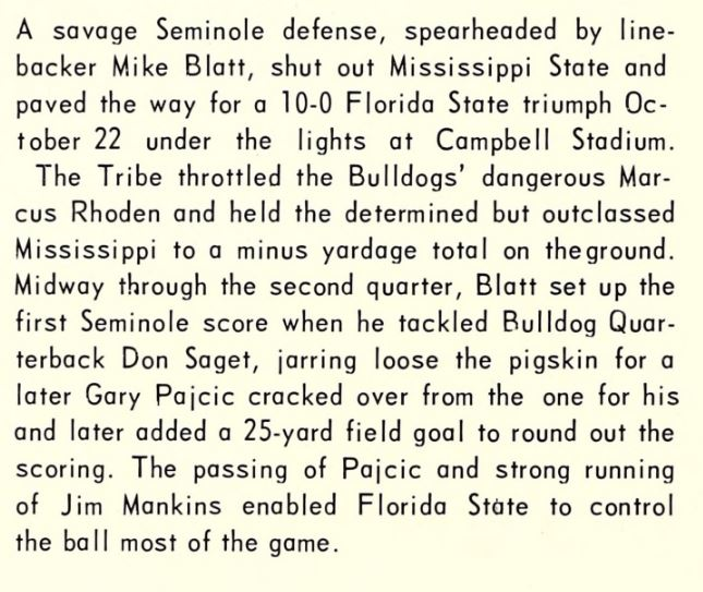 1967 football 05 Mississippi State-Win-2 summary.JPG