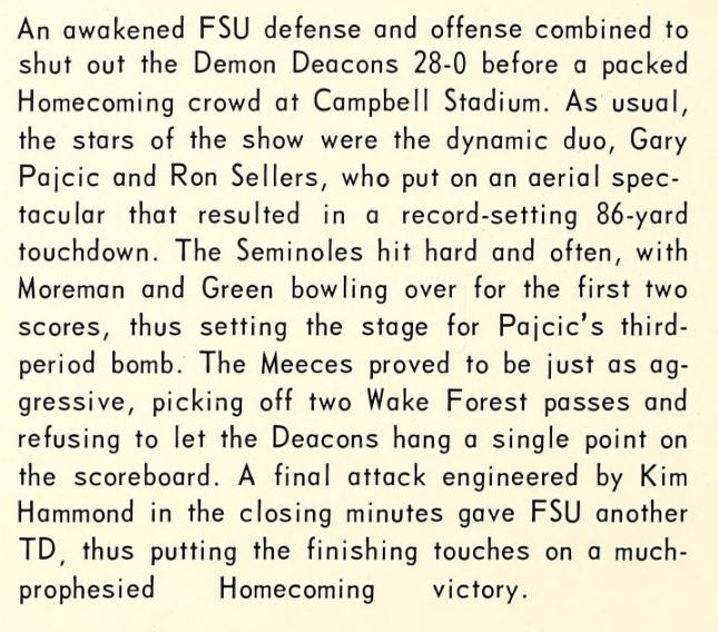 1967 Homecoming football game vs Wake Forest- summary.JPG