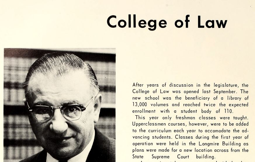 1967 sign of the times- College of Law opened.JPG