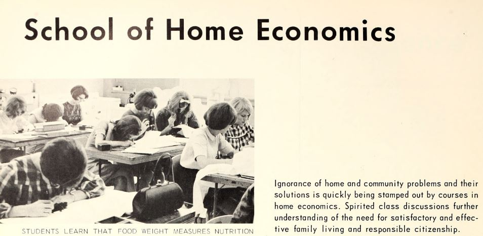 1967 sign of the times- Home Economics Degree.JPG