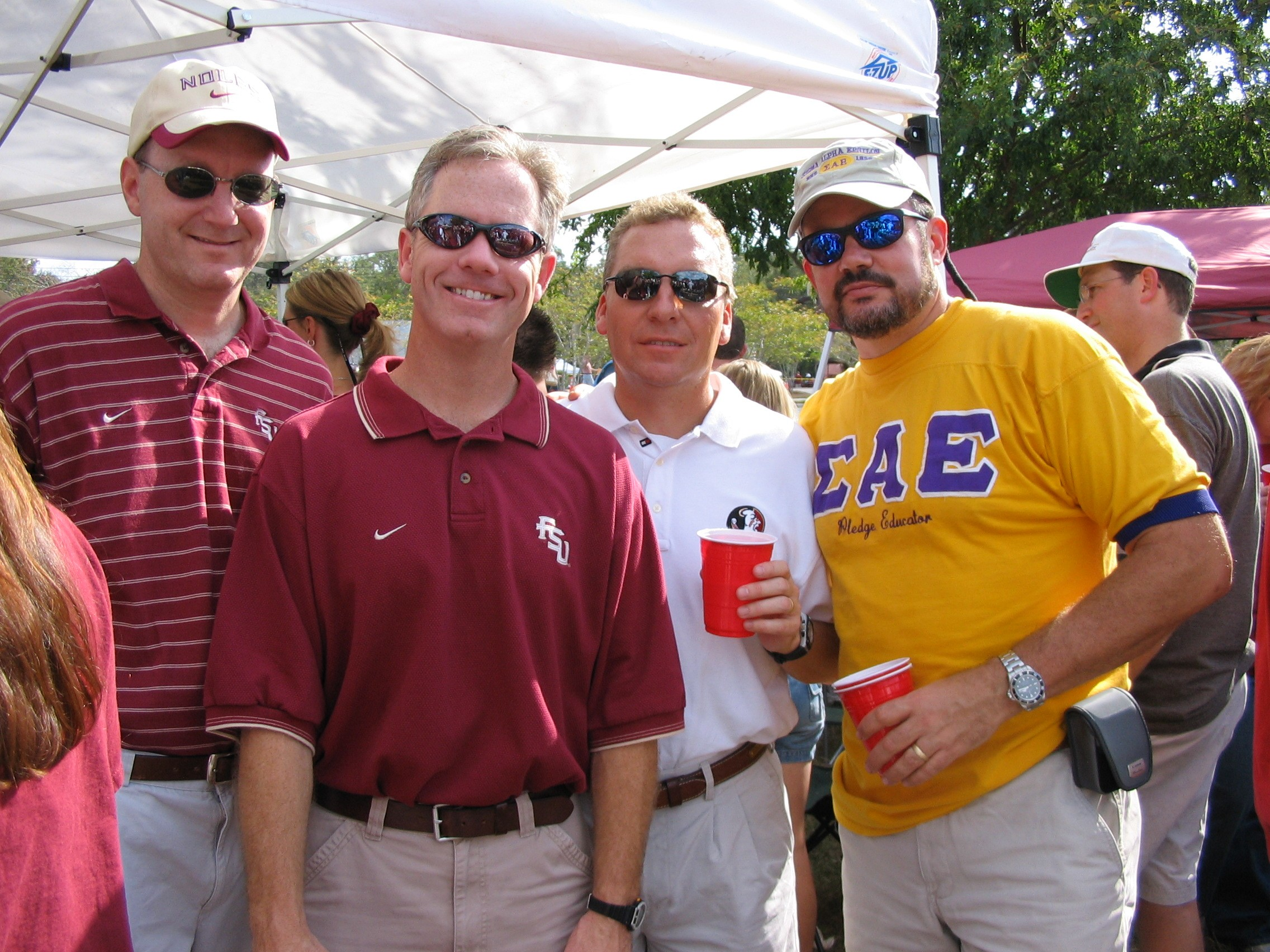 2005 alumni tailgate-TBD, SteveSills, DaveLips, Sabu.JPG