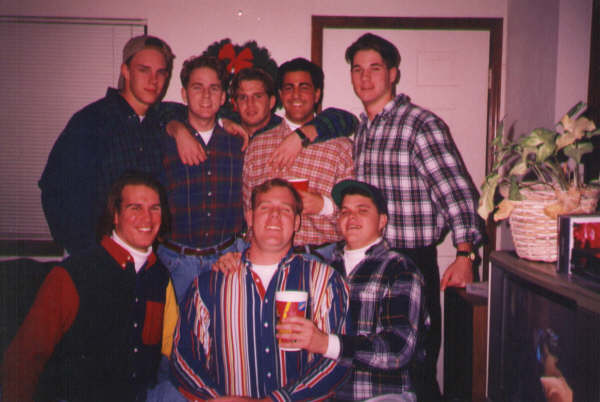 1993 christmas time -StefanHajek, PatToole, MIkeMyers, RickJohnston.jpg