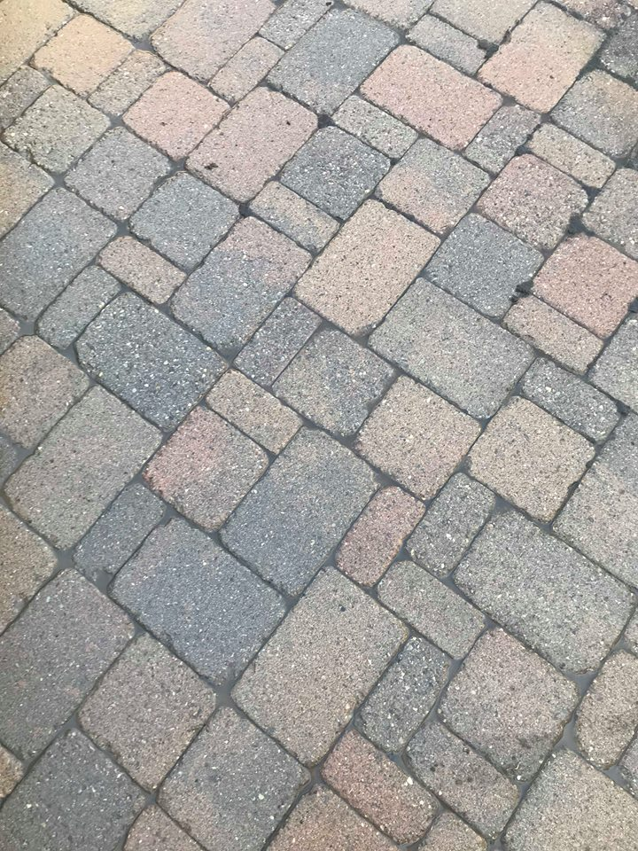 After CM Pressure Pro. The perfect patio to hang out on this summer! These pavers do not have any sealers on them. There are many benefits to sealing your pavers! Message or call us to find out more.