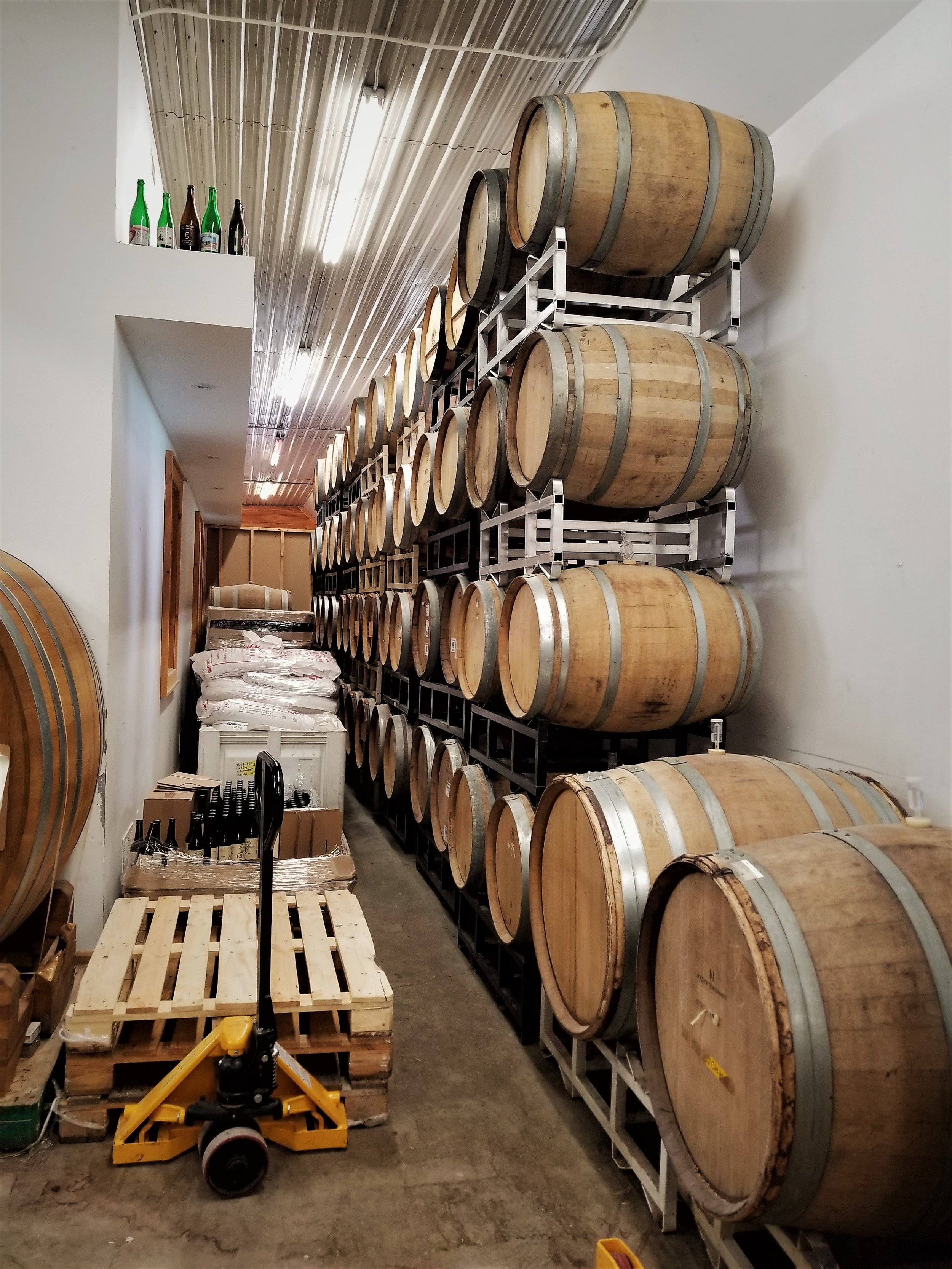 A shot of some of the many barrels that can be found at Block 3.