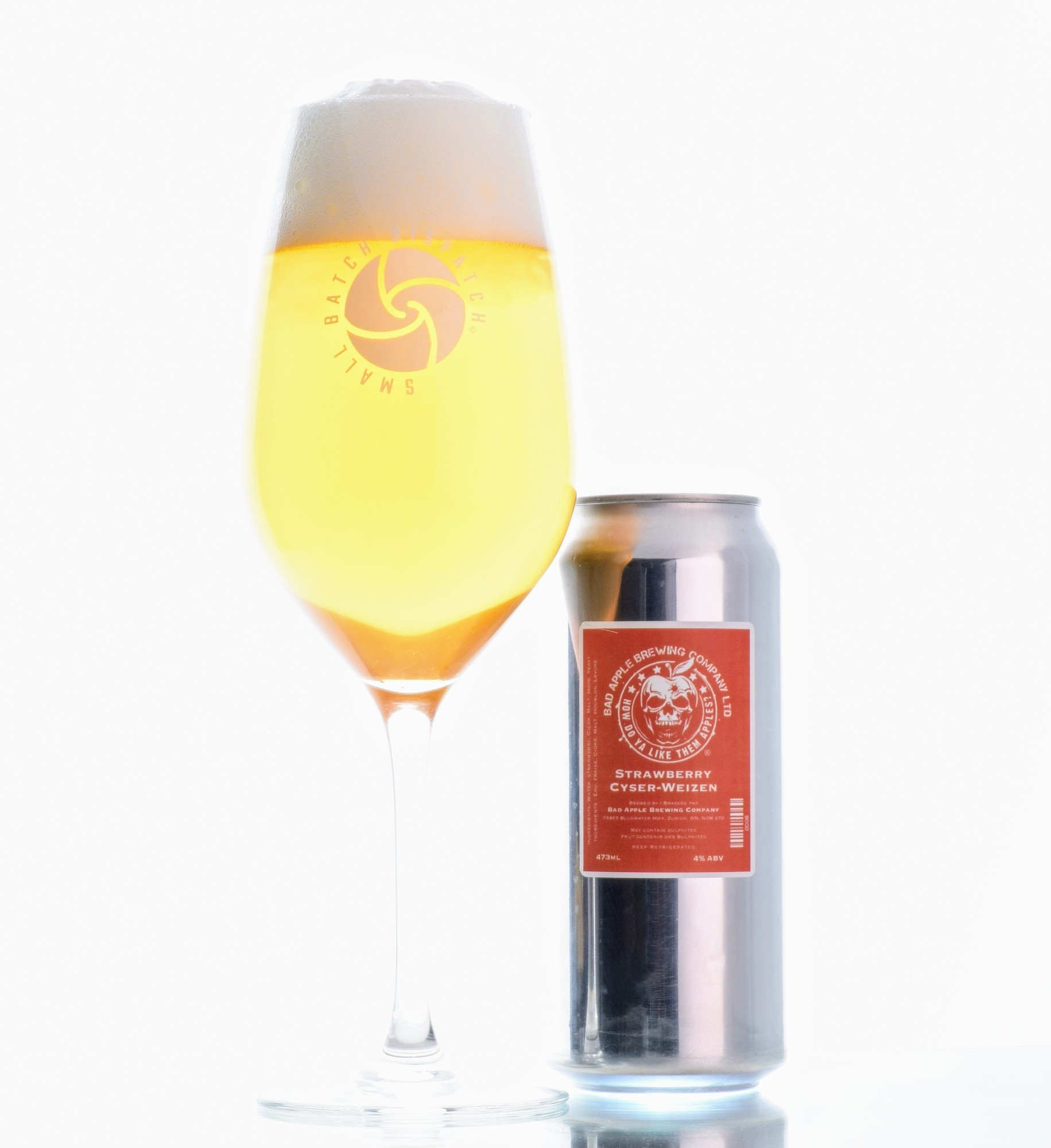 Strawberry Cyserweizen - Part of our April 2019 curation! This wheat beer is made with fresh strawberries.