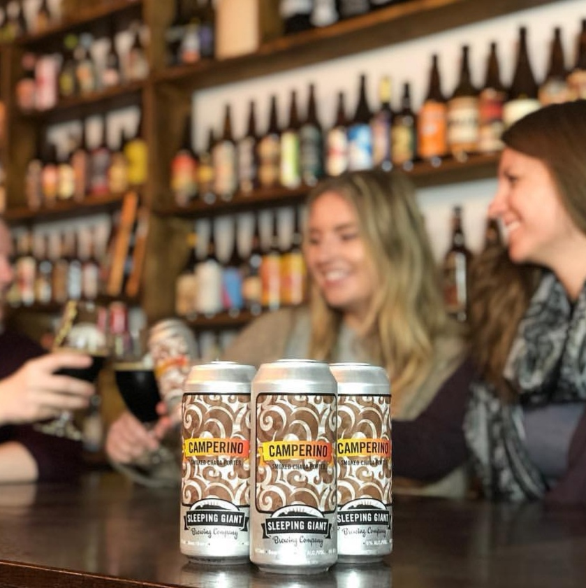 Camperino - Camperino 2019 has hit the shelves and our taproom! Brewed on International Women's Brew Day by many of our local female craft beer lovers, this Chaga Smoked Porter has an obvious smoked quality to it while the added Chaga gives it a deep earthiness.