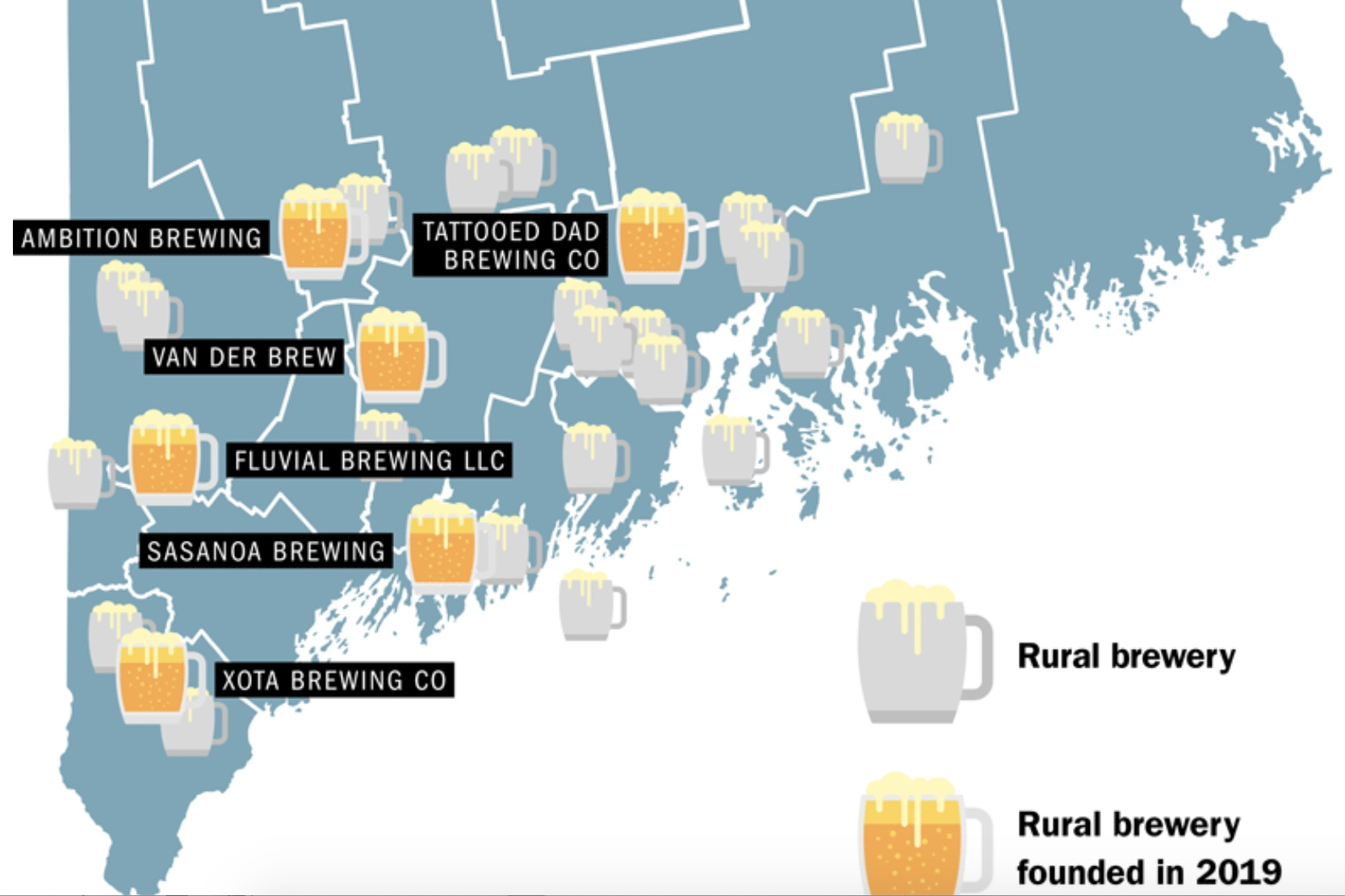 Rural brewers craft a niche by tapping into a new business model - Read the full article
