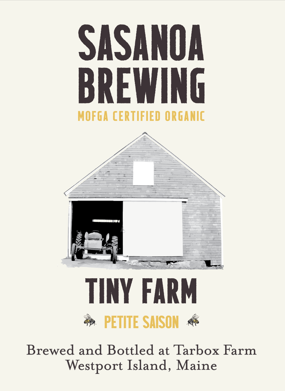 TINY FARM - FARMHOUSE ALE - SAISONTiny Farm is our version of a petite saison. It is made with all Maine grains and dry hopped with Aroostook hops. It's light, effervescent, and refreshing.Made with all Maine ingredients:Organic Barley, Organic Oats, Organic Spelt, Organic HopsBottle conditioned. 750 ml, 1 pint 9.4 fl oz4.5% ABV