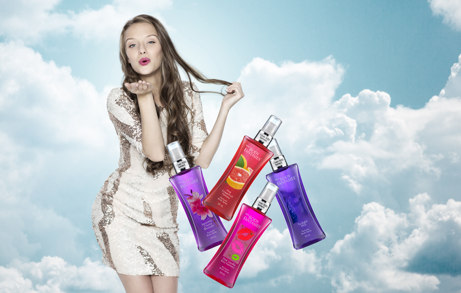 BODY FANTASIES - The USA's No.1 body perfume spray was launched in the UK in 2016 and VIViD managed a year-long launch project spanning web design, branding, PR, social and digital media.