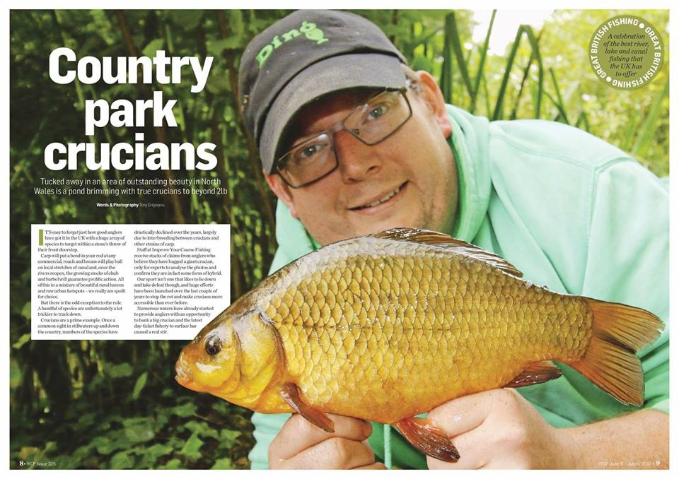 PART OF THE FEATURE IN 'IMPROVE YOUR COURSE FISHING MAGAZINE' ABOUT THE ROSIE AND ITS CRUCIAN CARP.