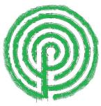 - The labyrinth layout is an adapted Cretan form with four circuits.  The labyrinth was built from concentric circles, using a technique from the website Math Recreation.
