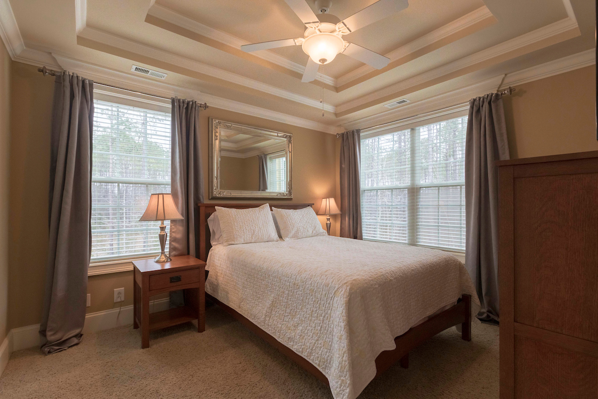 Elegant Suite | Murrells Inlet - 1 Queen bed, 1 Bathroom with a breathtaking view of the forest.