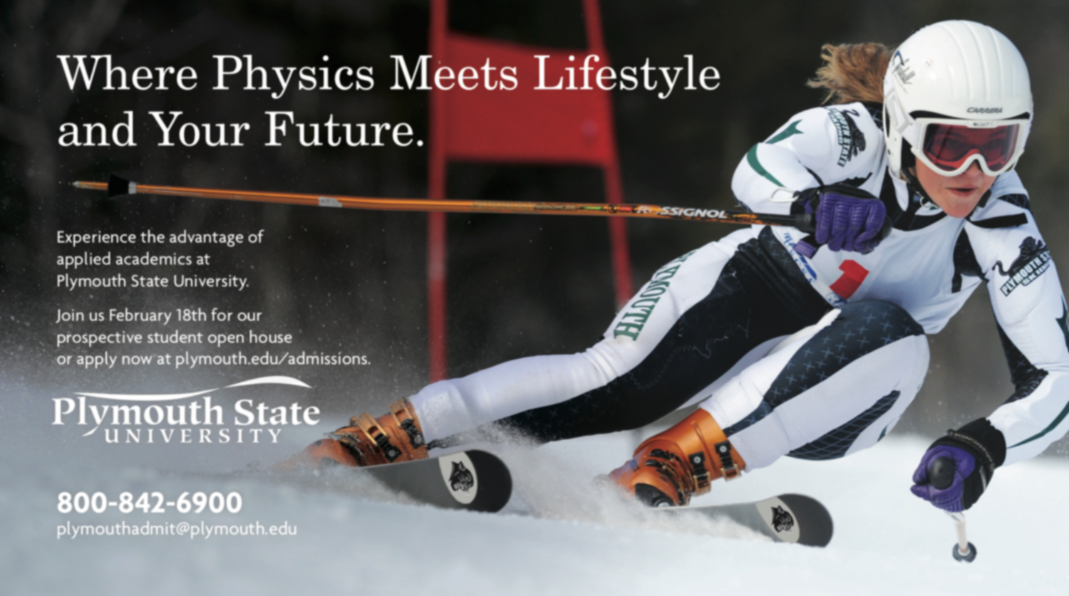 PRINT ADVERTISEMENT CREATED FOR PLYMOUTH STATE UNIVERSITY