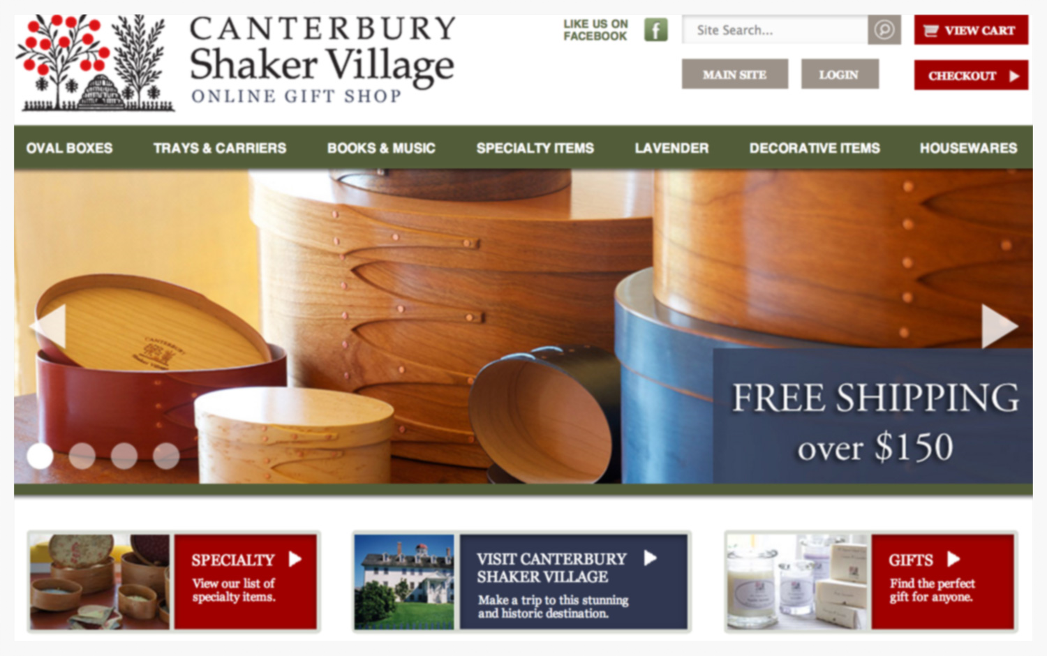 Ecommerce Website For Canterbury Shaker Village