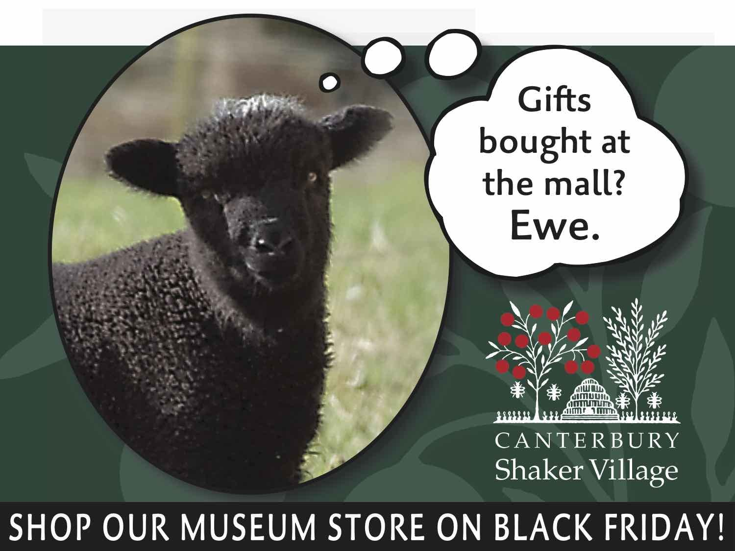 Direct Mail Created as part of a content marketing program at Canterbury Shaker Village