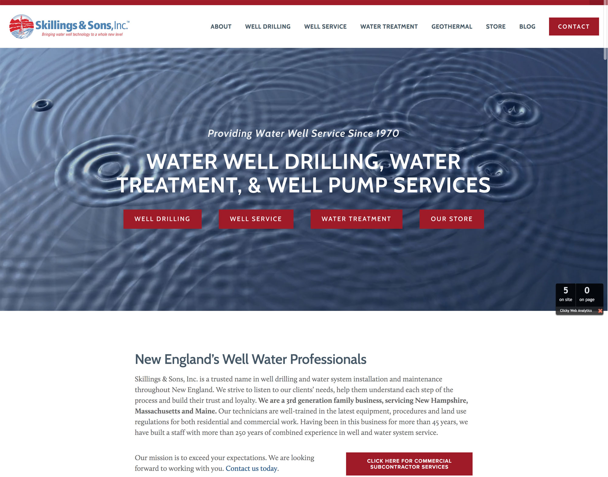 Skillings and Sons Final Website Design with Video Banner